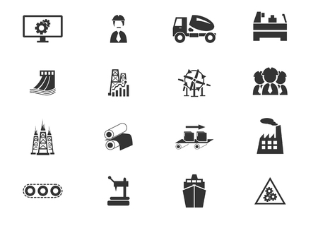 power station: Industry simply icons for web and user interfaces