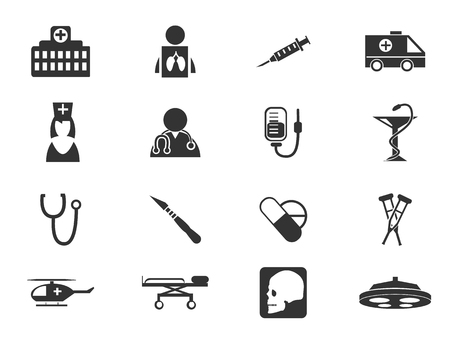 medical syringe: Medical simply icons for web and user interfaces