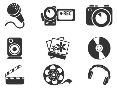spot lit: Social media simply icons for web and user interfaces