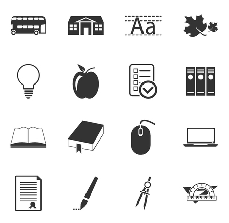 school icon: School simply icons for web and user interfaces Illustration