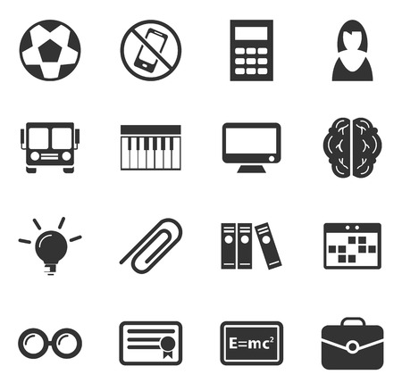 mc2: School simply icons for web and user interfaces Illustration