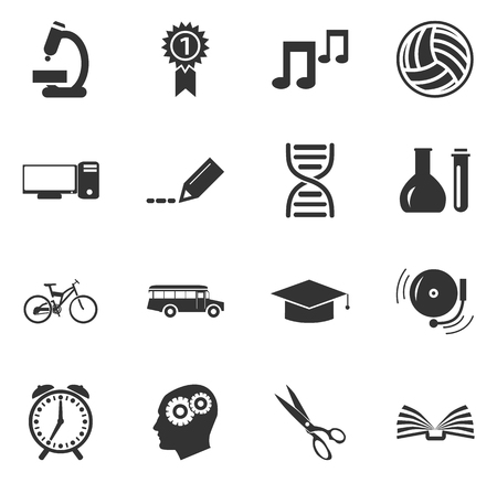 school book: School simply icons for web and user interfaces Illustration