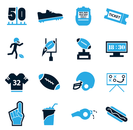 tactic: American Football simply icons for web and user interfaces Illustration