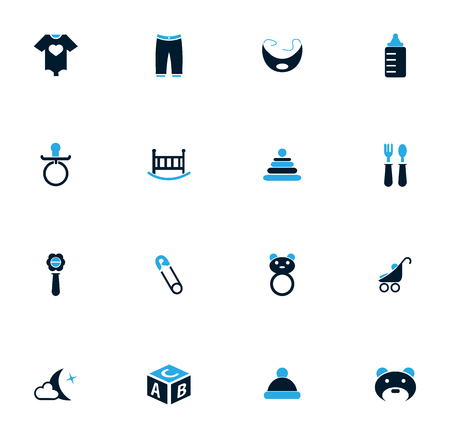 nipples: Baby simply icons for web and user interfaces