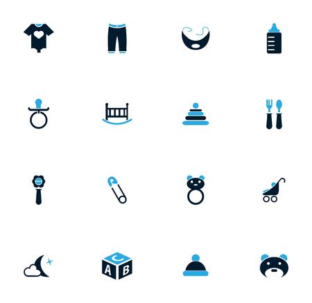 pezones: Bebé simplemente iconos para web y las interfaces de usuario