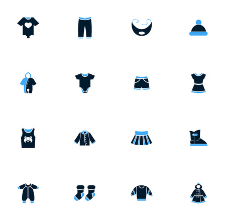romper: Baby clothes simply icons for web and user interfaces