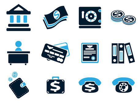 vaulted door: Finance simply icons for web and user interfaces Illustration
