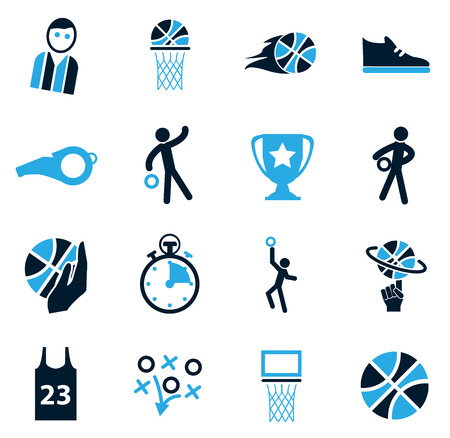 african basket: Basketball simply icons for web and user interfaces