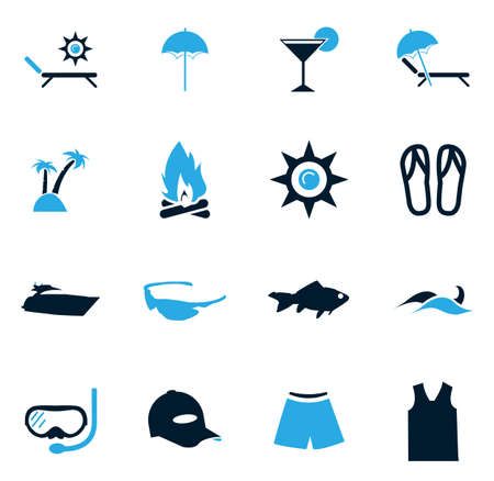 sandal tree: Beach simply icons for web and user interfaces Illustration