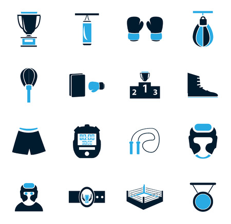 driving range: Boxing simply icons for web and user interfaces Illustration