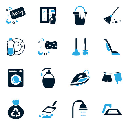 Cleaning company simply icons for web and user interfaces
