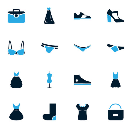 shirts on hangers: Clothes simply icons for web and user interfaces
