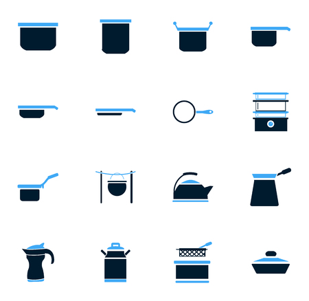 fryer: Dishes simply icons for web and user interfaces