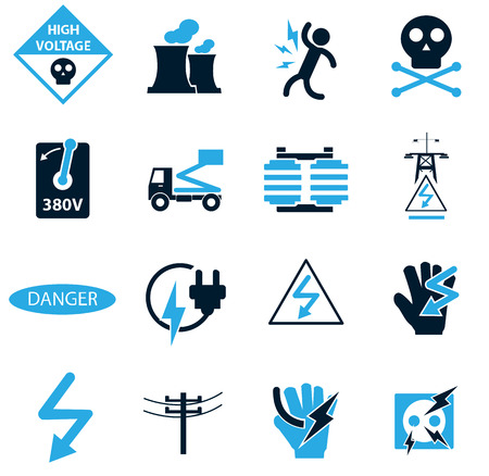 volt: High voltage simply icons for web and user interfaces