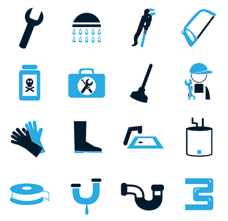 water basin: Plumbing simply icons for web and user interfaces Illustration