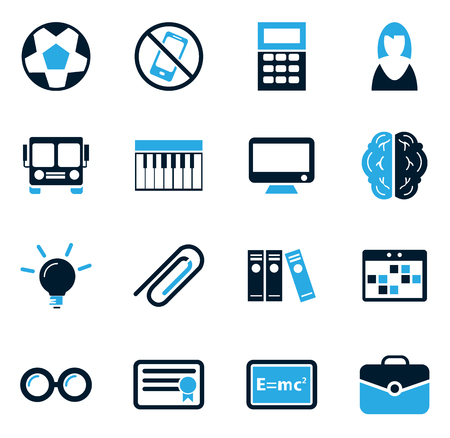 School simply icons for web and user interfaces Illustration
