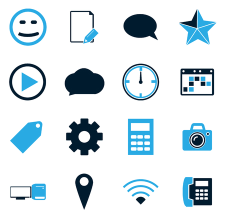 Social media simply icons for web and user interfaces