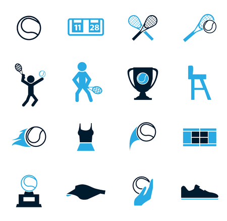 tennis serve: Tennis simply icons for web and user interfaces Illustration