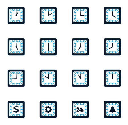 analog dial: Time simply icons for web and user interfaces