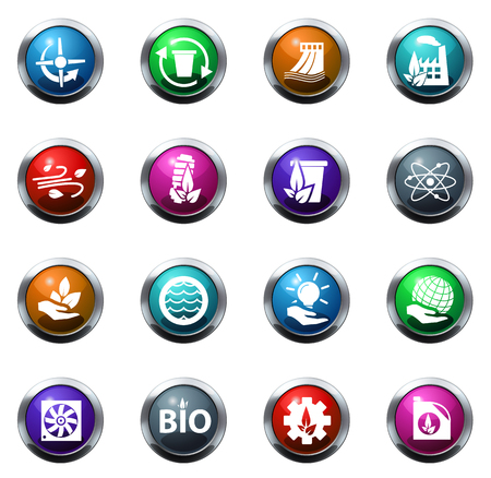 alternative: Alternative energy color icon for web sites and user interfaces Illustration