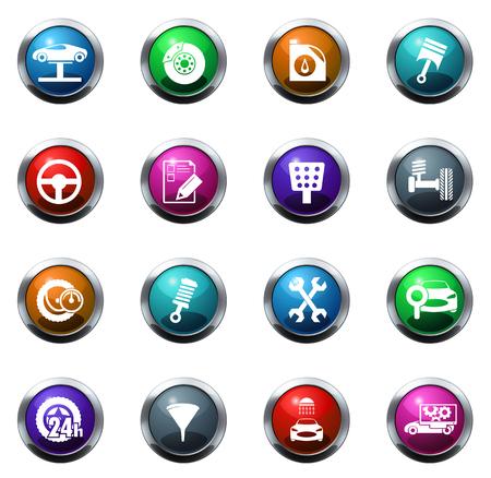 Vecteur icônes de service de voiture pour les sites Web et les interfaces utilisateurs Banque d'images - 51769223