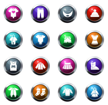 romper: Baby clothes color icon for web sites and user interfaces