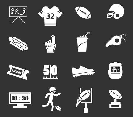 american football helmet collection: American Football simply icons for web and user interfaces Illustration