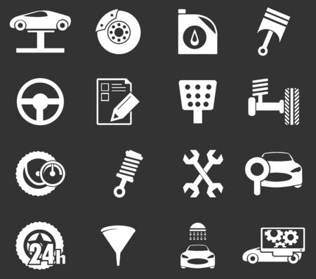 check sign: Car service simply icons for web and user interfaces Illustration