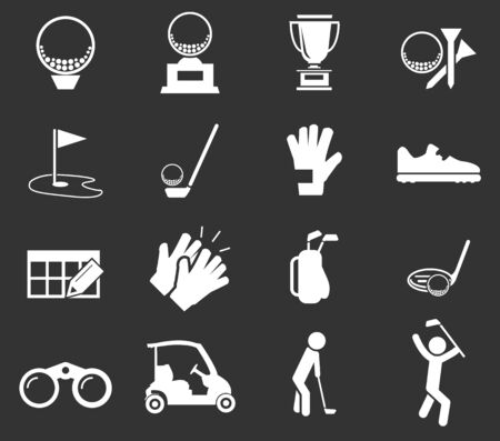 Golf simply icons for web and user interfaces