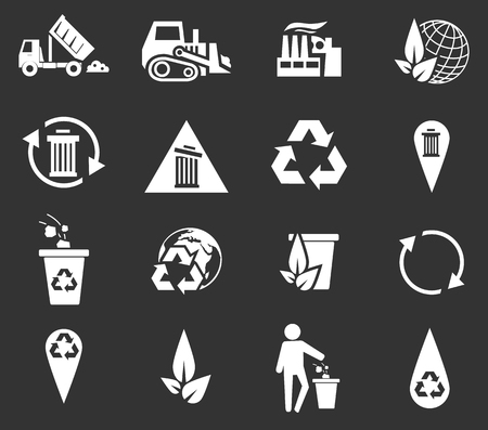 trashing: Garbage simply icons for web and user interfaces