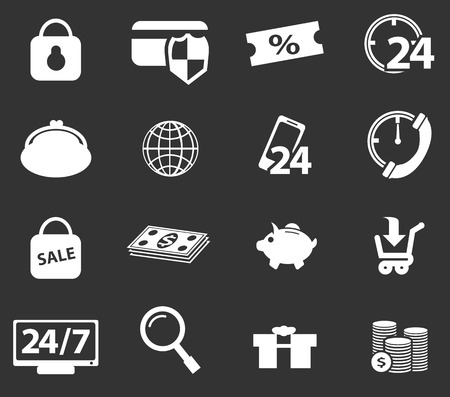 dealings: E-commerce simply icons for web and user interfaces