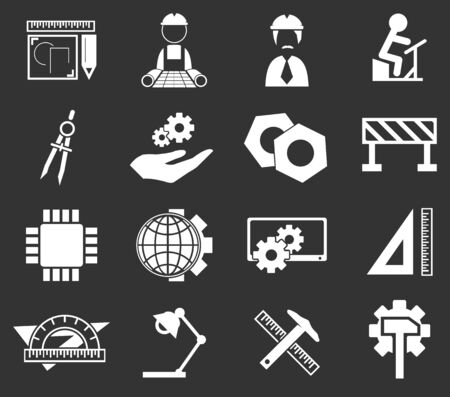 habiliment: Engineering simply icons for web and user interfaces