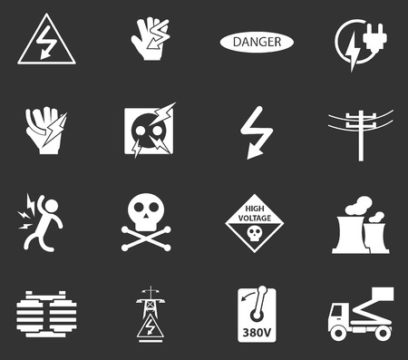 pylon: High voltage simply icons for web and user interfaces