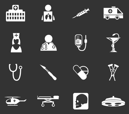 Medical simply icons for web and user interfaces