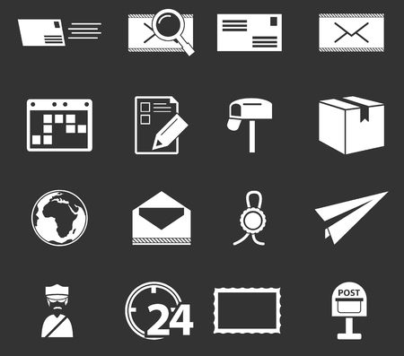 sent: Post service simply icons for web and user interfaces