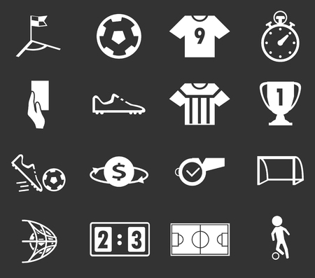 coin toss: Soccer simply icons for web and user interfaces