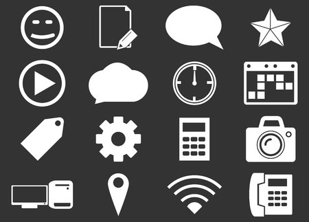 chat room: Social media simply icons for web and user interfaces