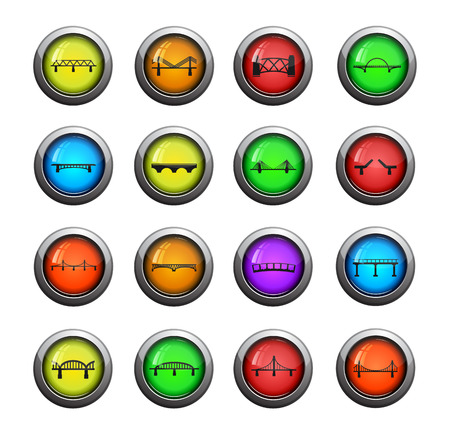 viaduct: Bridges color icon for web sites and user interface Illustration