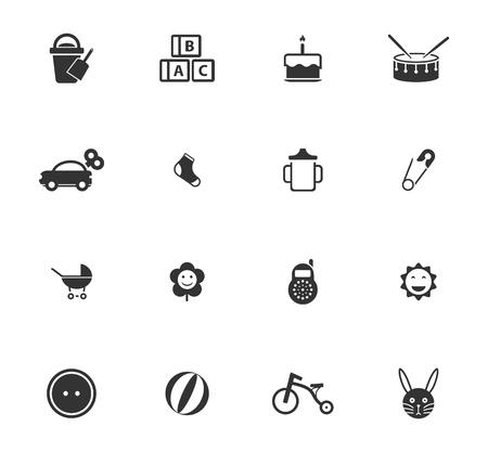 Baby icons for web and user interfaces Vektoros illusztráció