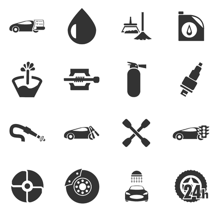 jack in the box: Car shop icon set for web sites and user interface