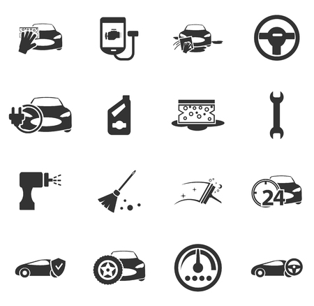 porter house: Car shop icon set for web sites and user interface