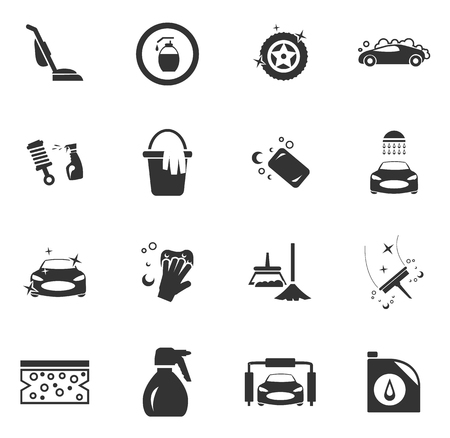 Car wash douche service symbool voor web pictogrammen