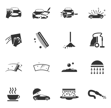 Car wash shower service symbol for web icons