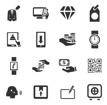 e wallet: E-commerce icon set for web sites and user interface