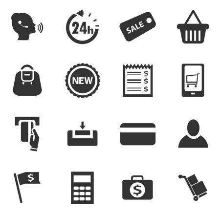 24 off: E-commerce icon set for web sites and user interface