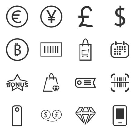 exchanger: E-commerce icon set for web sites and user interface