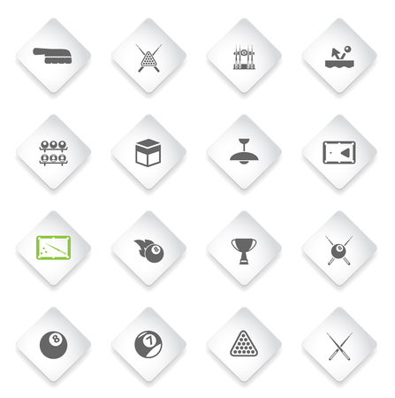 pool cues: Billiards simply symbol for web icons and user interface Illustration