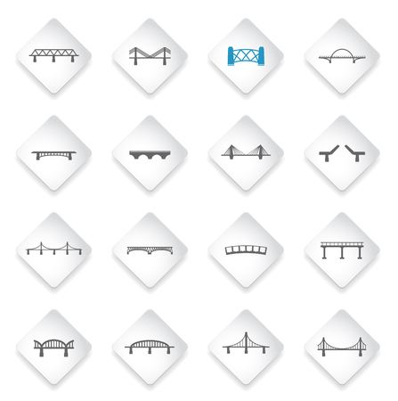 balustrade: Bridges simply icons for web and user interfaces