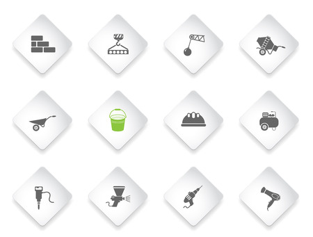 wrecker: building equipment simply symbol for web icons and user interface Illustration