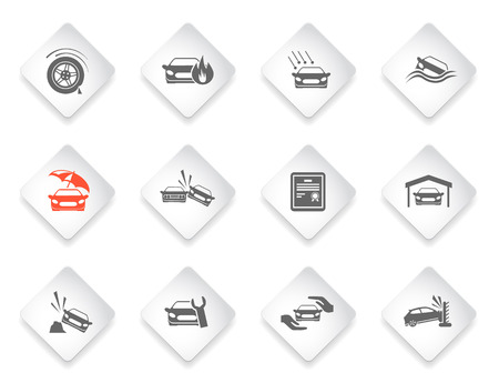 swerving: Car Insurance simply symbol for web icons and user interface